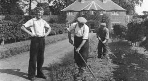 Working in the Garden - Old