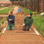 Gordon Castle Walled Garden Gardeners at work