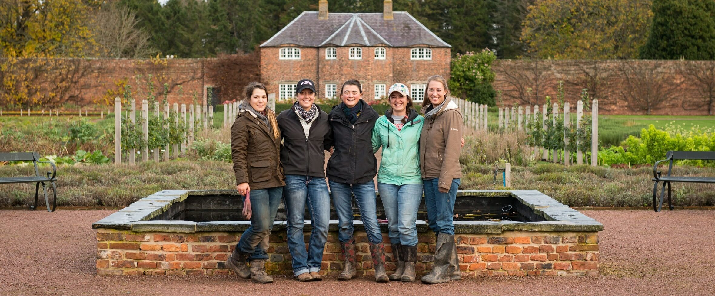 WWoofers visit to Gordon Castle Walled Garden