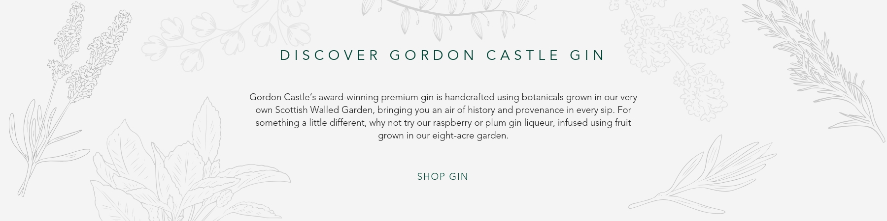 Homepage Block Gordon Castle Gin